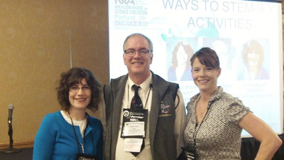 photo of Michael Holst, Christy Wood, and Kim Abegglen
